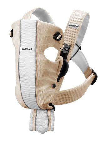 BABYBJORN Baby Carrier Air Sand White_F