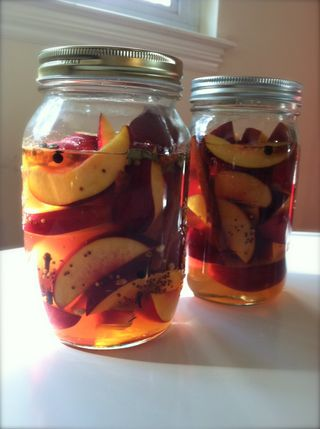 Nectarine pickles